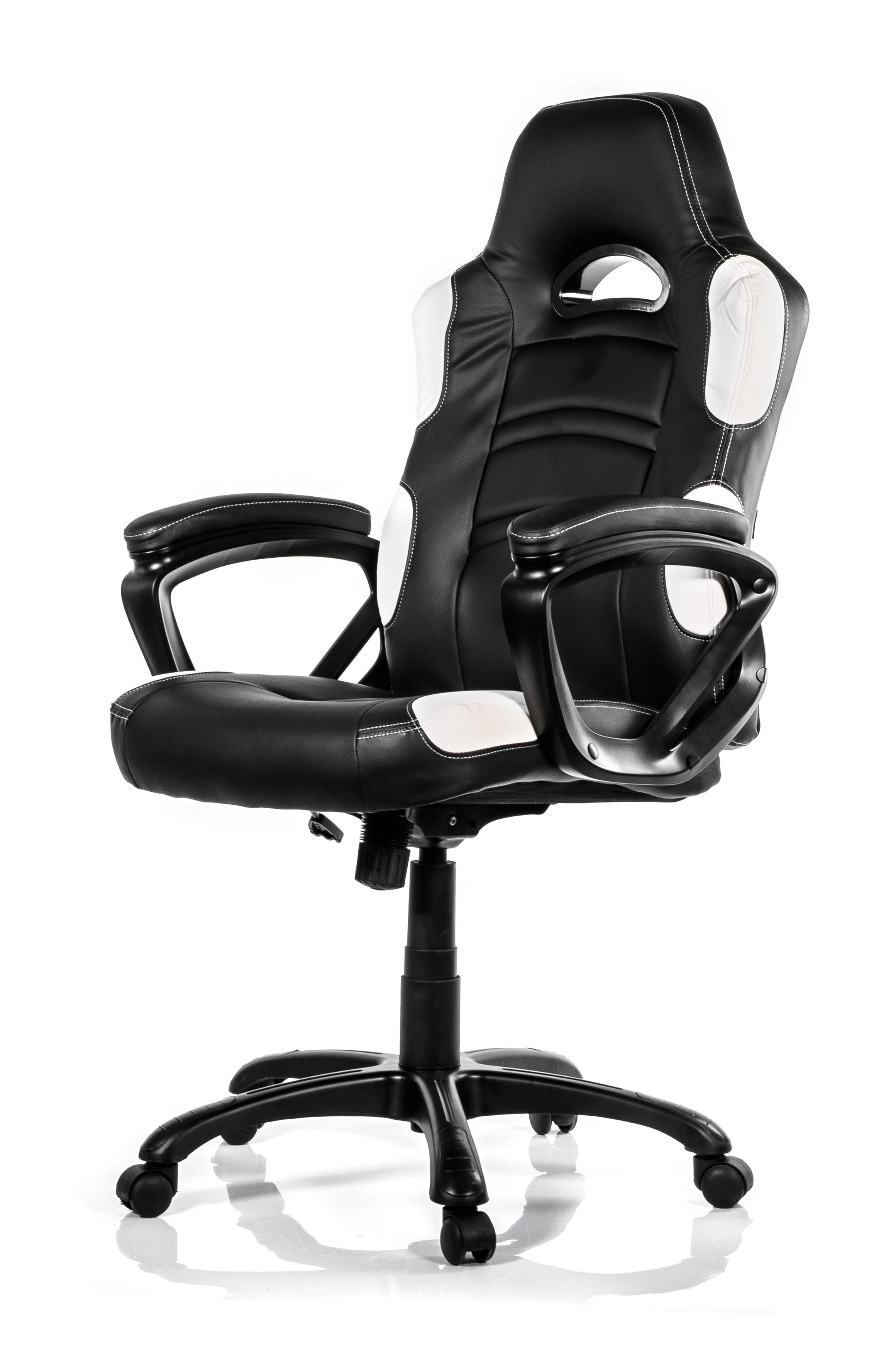 Arozzi Enzo Gaming Chair Black/White ARO-E-WH