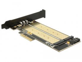 DeLock PCI Express x4 Card > 1x internal M.2 Key B + 1x internal NVMe M.2 Key M Low Profile Form Factor
