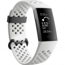 Fitbit Charge 3 Fitness Wristband Special Edition Frost White Sport/Graphite Aluminum